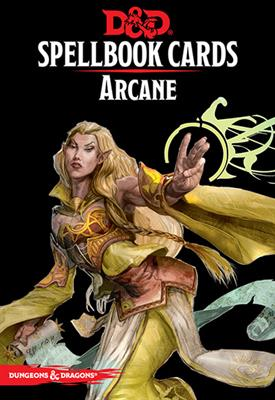 D&D RPG Spellbook arcane cards