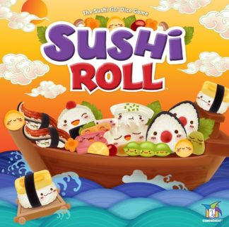 Sushi roll board game dice game