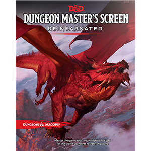 D&D Dungeon Master's Screen Reincarnated rpg