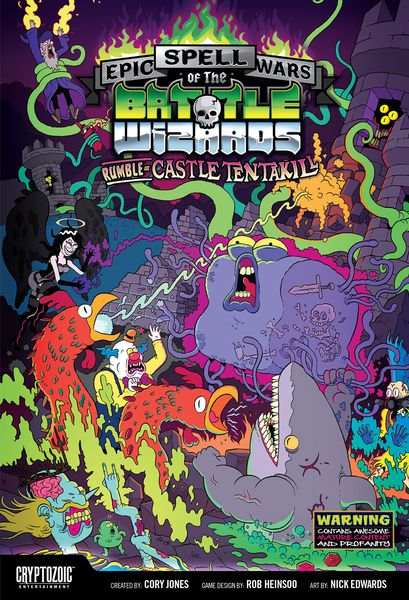 Epic Spell Wars of the Battle Wizards Rumble at Castle Tentakill board game
