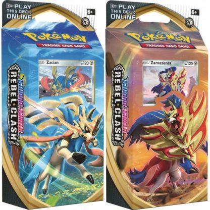 Pokemon Sword and Shield Rebel Clash Theme Deck Bundle of 2