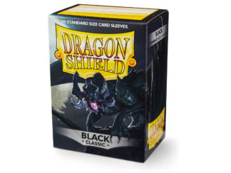Dragon Shield Classic Black 100 Standard Size card sleeves