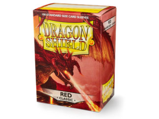 Dragon Shield Classic Red 100 Standard Size card sleeves
