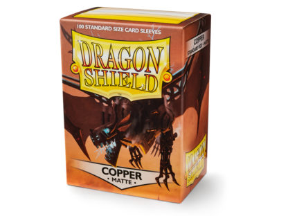 Dragon Shield Copper Matte 100 Standard Size card sleeves