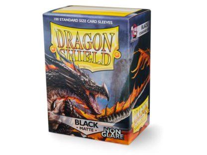 Dragonshield Black Matte Non Glare 100 Standard Size card sleeves
