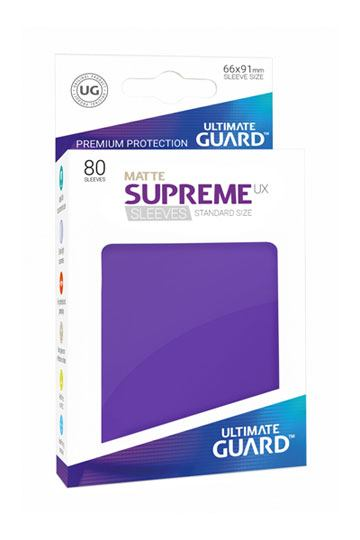 Matte-supreme-sleeves-standard-size-Purple
