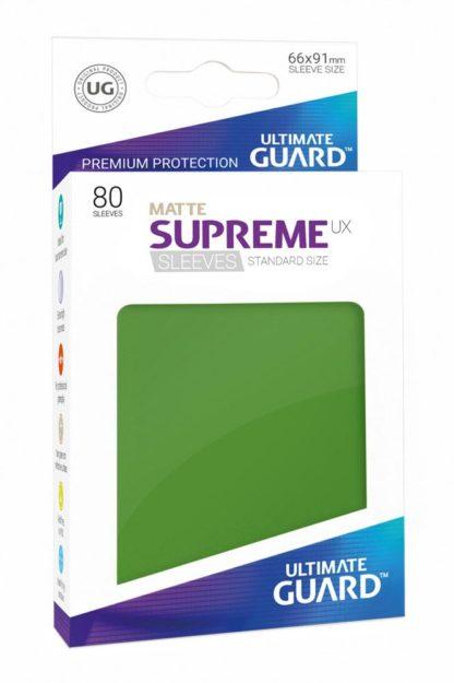 Matte-supreme-sleeves-standard-size-green