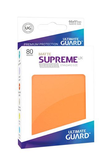 Matte-supreme-sleeves-standard-size-orange