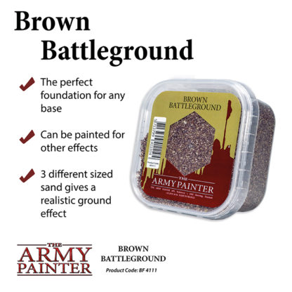 The Army Painter Basing Brown Battleground