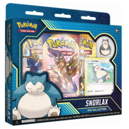 Pokemon Snorlax Pin Collection