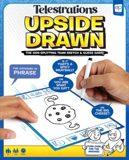 Telestrations Upside Drawn Board Game