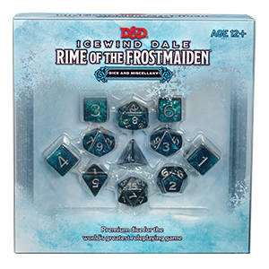D&D Icewind Dale Rime of the Frostmaiden Dice and Miscellany