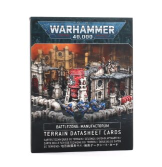 Games Workshop Battlezone Manufactorum Terrain Datasheet Cards